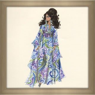 Robert Best 'Palm Beach Breeze Barbie Doll' Framed Fashion Wall Decor