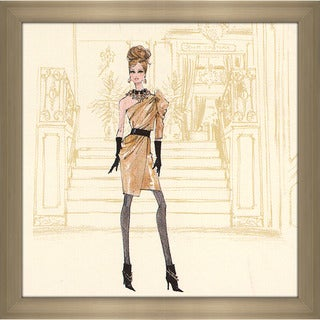Robert Best 'Gold Dress Barbie' Framed Fashion Wall Decor