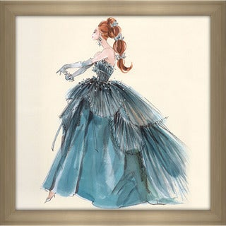 Robert Best 'Blue Evening Gown Barbie Fashion' Framed Fashion Wall Decor