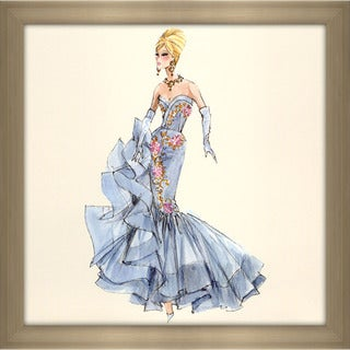 Robert Best 'Blue Dress Barbie 10th Anniversary' Framed Fashion Wall Decor