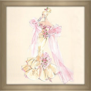 Robert Best 'Blonde Pink Roses Barbie' Framed Fashion Wall Decor