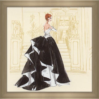 Robert Best 'Black and White Gown Barbie' Framed Fashion Wall Decor