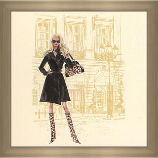 Robert Best 'Black Trench Coat Barbie' Framed Fashion Wall Decor