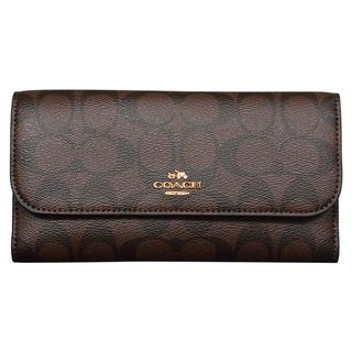 Coach Signature PVC Checkbook Wallet