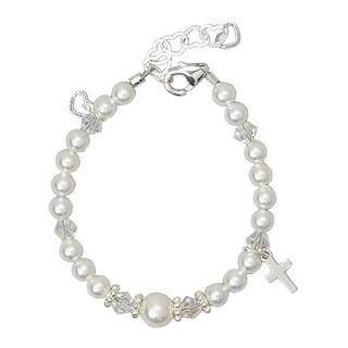 Luxury Swarovski Crystal Cross Christening Baby Bracelet
