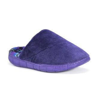 Muk Luks Women's Gretta Purple Polyester Slippers