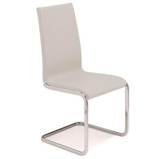 Talenti Casa Aurora Collection Italian White Leather Dining Chair