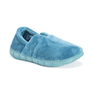 MUK LUKS Women's Maxine Blue or Green Polyester Slippers