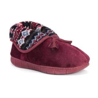Muk Luks Women's Porchia Red Polyester Slippers
