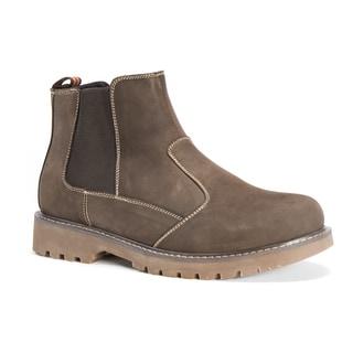 Muk Luks Men's Blake Brown Leather/Polyester Shoes