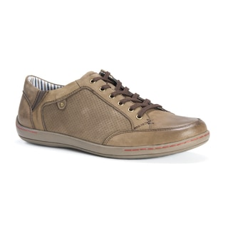 Muk Luks Men's Brodi Tan Leather/Polyester Shoes