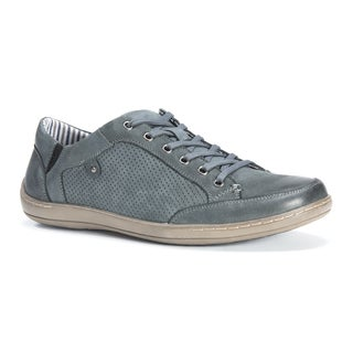 Muk Luks Men's Brodi Grey Leather/Polyester Shoes