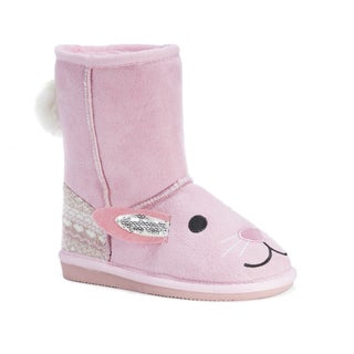 Muk Luks Kid's Bonnie Pink Bunny Boots