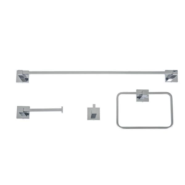 Italia Capri Chrome 4-piece Bathroom Accessory Set