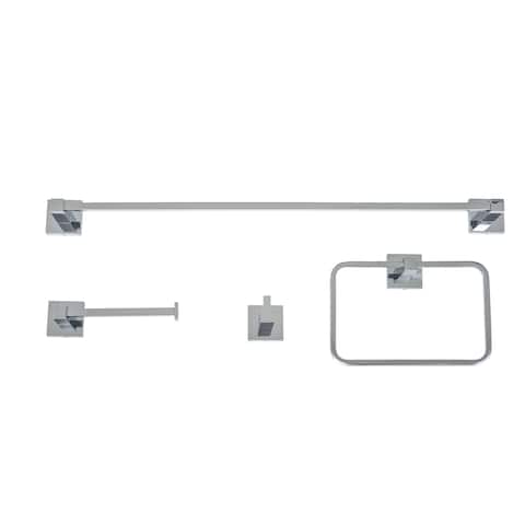 Italia Capri Chrome 4-piece Bathroom Accessory Set