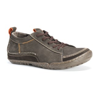 Muk Luks Men's Cory Brown Leather/Cotton/Polyester Shoes