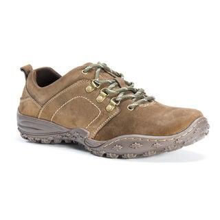 Muk Luks Men's Kadin Brown Leather/Polyester Shoes