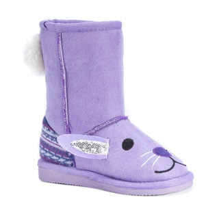 Muk Luks Kid's Lily Purple Polyester Mid-calf Bunny Boots