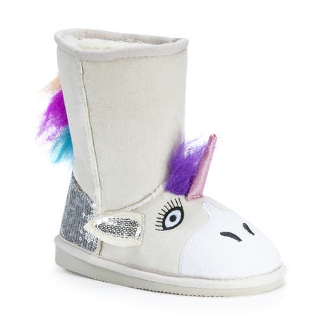 Muk Luks Kid's Luna Unicorn Boots