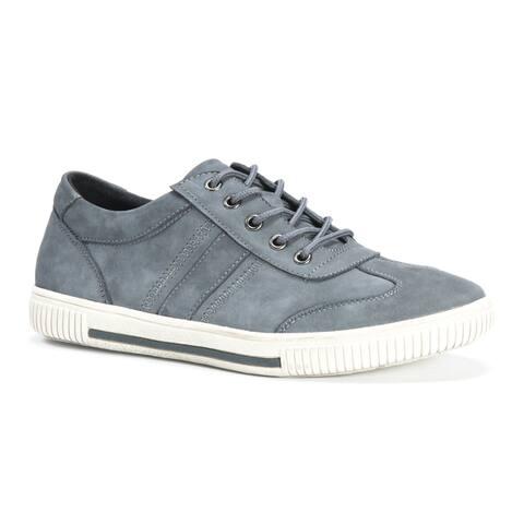 Muk Luks Mens Nick Grey Leather Shoes