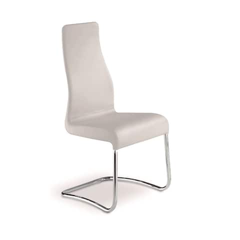 Talenti Casa Florence Collection Italian White Leather Dining Chair