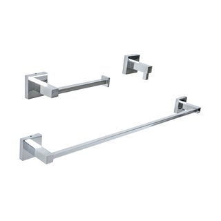 Italia Capri Chrome Finished Brass 3-Piece Bathroom Accessory Set