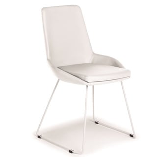 Talenti Casa Laura Collection Italian White Eco-leather Dining Chair