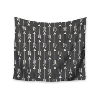 "Kess InHouse Amanda Lane ""Tribal Arrows Dark Gray"" Wall Tapestry 51'' x 60''"