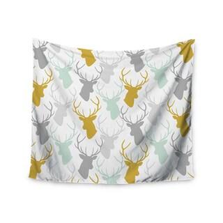 Kess InHouse Pellerina Design 'Scattered Deer White' 51x60-inch Wall Tapestry