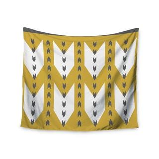 "Kess InHouse Pellerina Design ""Golden Aztec"" Yellow White Wall Tapestry 51'' x 60''"
