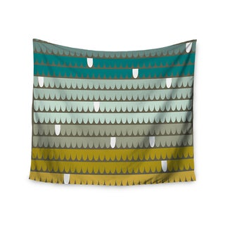 "Kess InHouse Pellerina Design ""Teal Scallops"" Blue Aqua Wall Tapestry 51'' x 60''"