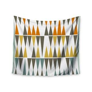 "Kess InHouse Pellerina Design ""Diamond Kilim"" Triangles Wall Tapestry 51'' x 60''"