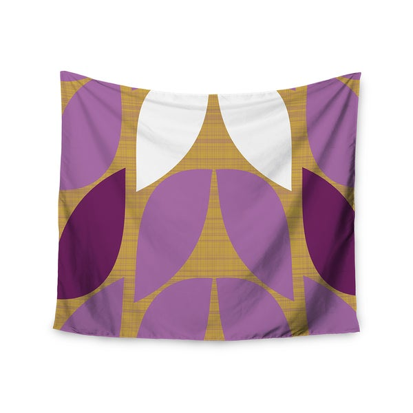 "Kess InHouse Pellerina Design ""Orchid Petals"" Purple Tan Wall Tapestry 51'' x 60''"