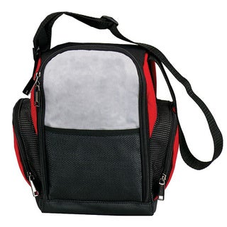 Goodhope Red/Black/Grey Fabric/Polyester/Mesh Lunch Cooler Bag