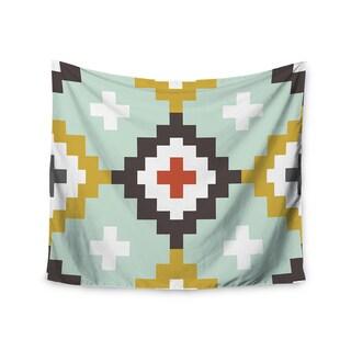 Kess InHouse Pellerina Design 'Gold Mint Moroccan Diamonds' 51x60-inch Wall Tapestry
