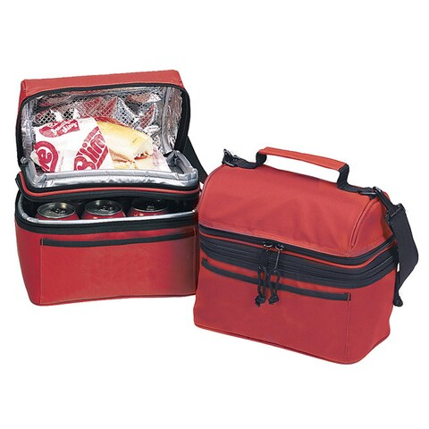 Goodhope Red/Black Fabric/Polyester Lunch Refresher Cooler Tote Bag