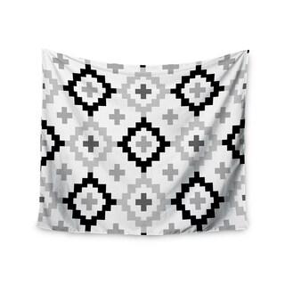 "Kess InHouse Pellerina Design ""Black White Moroccan"" Grey Geometric Wall Tapestry 51'' x 60''"