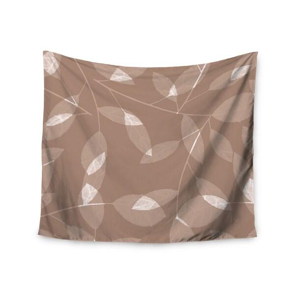 "Kess InHouse Alison Coxon ""Leaf Tawny"" Brown Beige Wall Tapestry 51'' x 60''"