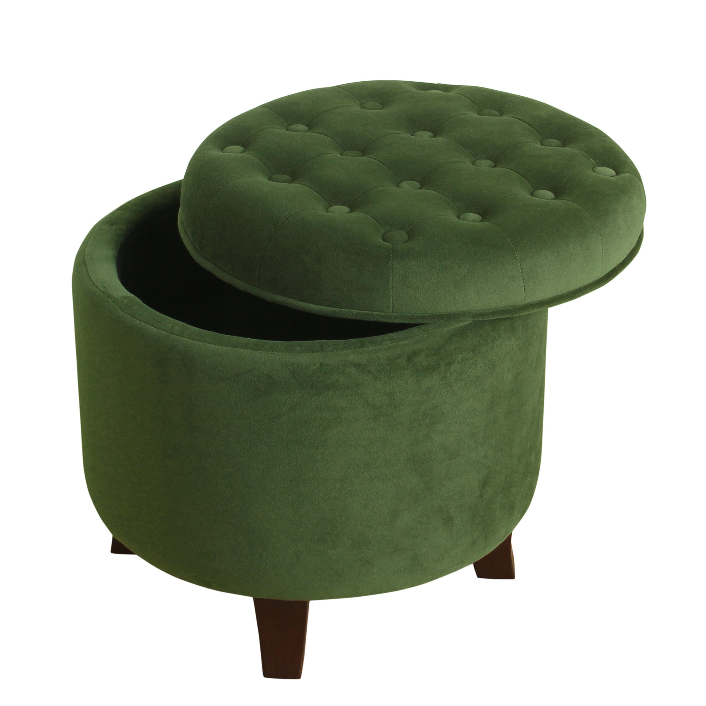 Fine Carbon Loft Hackback Velvet Forest Green Round Storage Ottoman Ocoug Best Dining Table And Chair Ideas Images Ocougorg