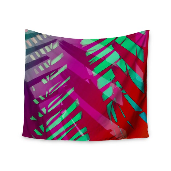 """Kess InHouse Alison Coxon """"Hot Tropical"""" Pink Red Wall Tapestry 51'' x 60''"""