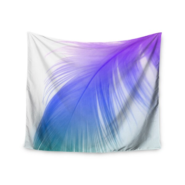 "Kess InHouse Alison Coxon ""Feather Colour"" Wall Tapestry 51'' x 60''"