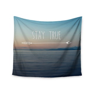 "Kess InHouse Ann Barnes ""Stay True"" Coastal Typography Wall Tapestry 51'' x 60''"