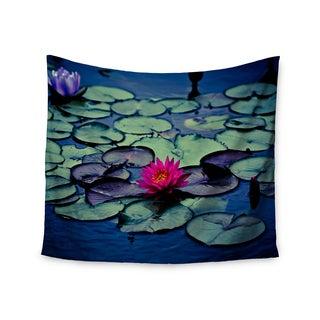 """Kess InHouse Ann Barnes """"Twilight"""" Water Lily Wall Tapestry 51'' x 60''"""