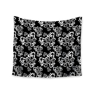 "Kess InHouse Mydeas ""Sweetheart Damask Black & White"" Pattern Wall Tapestry 51'' x 60''"