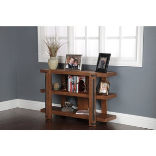Industrial Wood 30-inch Bookcase