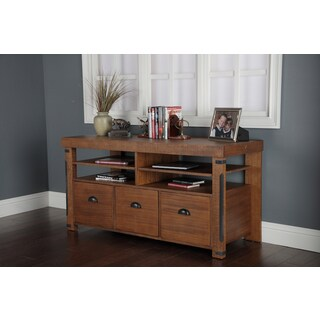 Industrial Collection Rough Sawn Wood Credenza Con