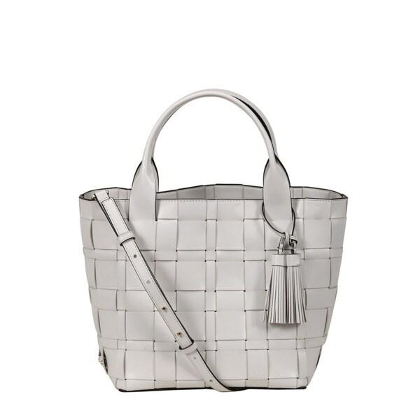 c73afaa15c3c Shop Michael Kors Vivian Optic White Medium Tote Bag - Free Shipping ...