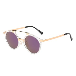 Dasein Round Unisex Sunglasses (Option: Clear/Purple Lense)