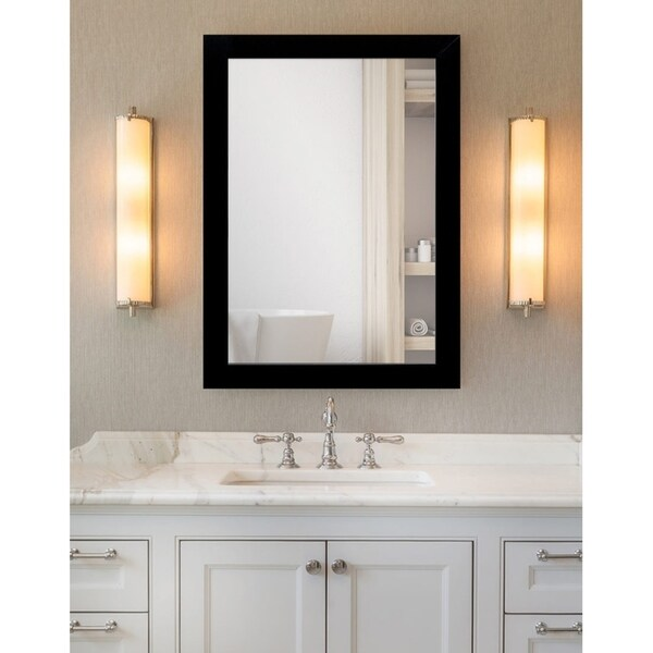 Shop Matte Black Framed Bathroom / Full Length Mirror - On Sale ...