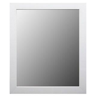 Bathroom Framed Mirror- White
